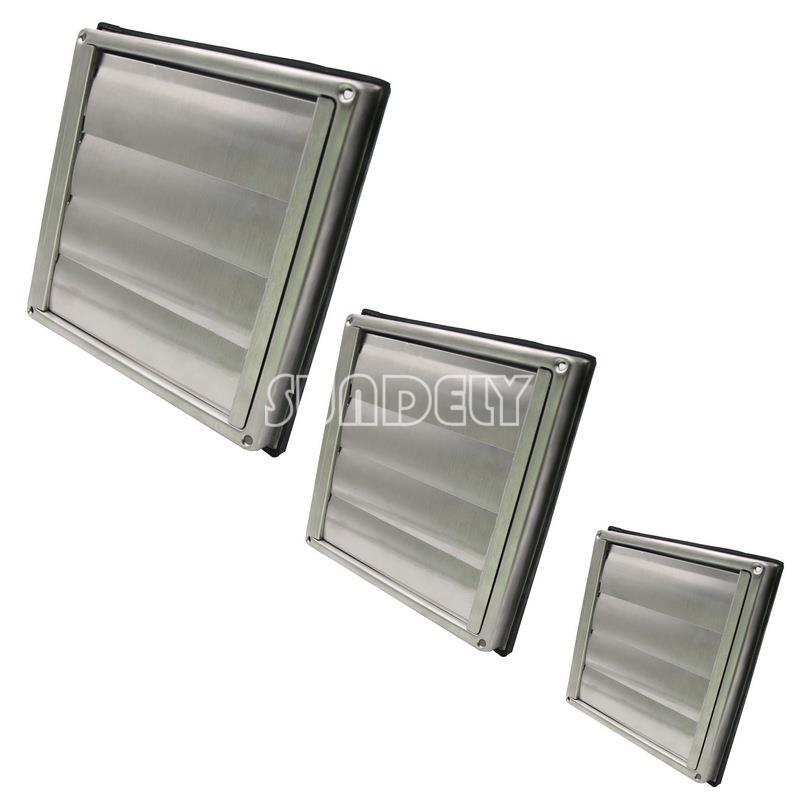 """Bathroom Vent Grill: Stainless Steel Square Air Vent Grill 4"""" 5"""" 6"""""""