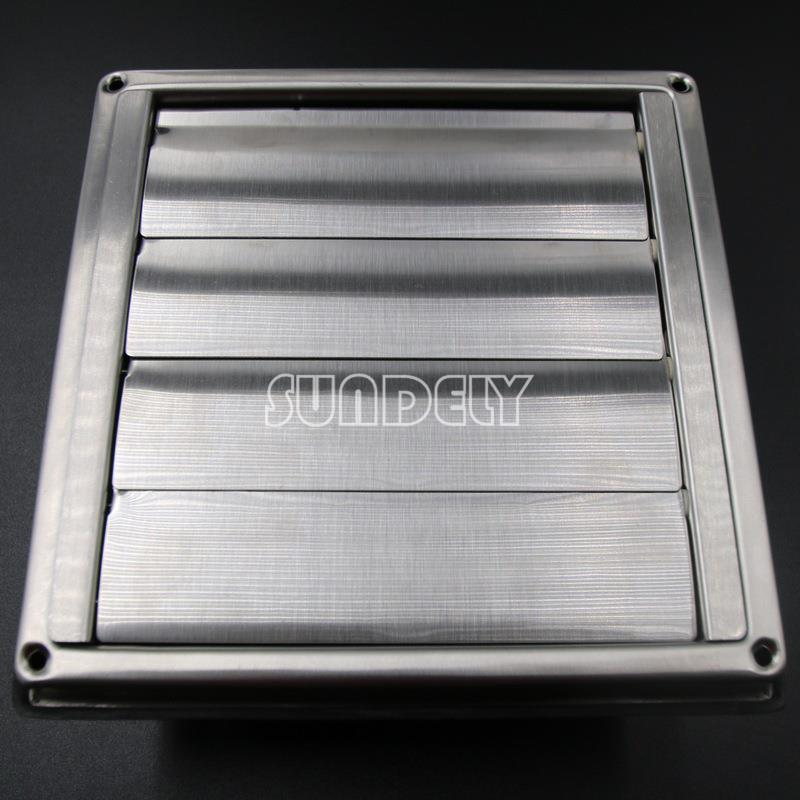 """Stainless Steel Square Air Vent Grill 4""""- 6 2/5 ..."""