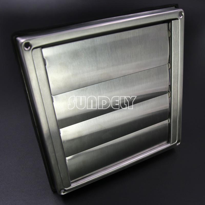 """Bathroom Vent Grill: 5"""" Stainless Steel Wall Air Vent Square Bathroom Extractor"""
