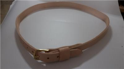 """1/"""" WIDE REAL LEATHER BELT  3MM THICK SOLID BRASS BUCKLE MEN WOMEN BY RANCH LAND"""