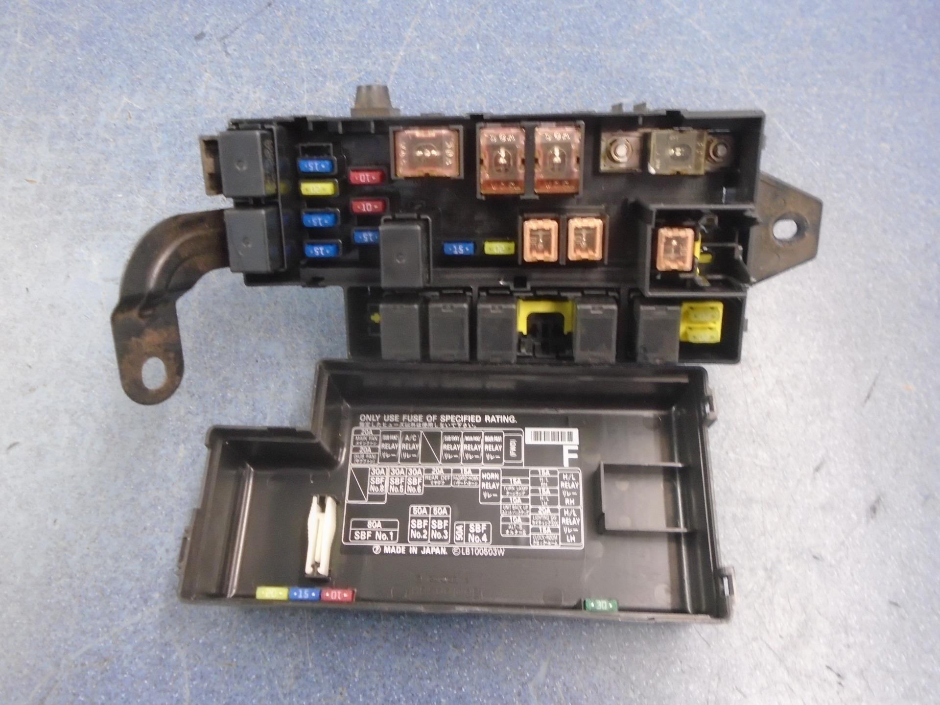 Subaru Impreza v1 fuse box