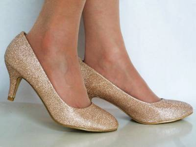 silver low heel wedding shoes sparkly low heel gold silver bridal heel 7440