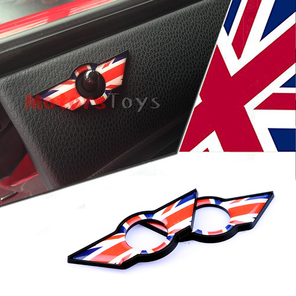 Black Union Jack Uk Flag Style Wing Emblem Rings For Mini