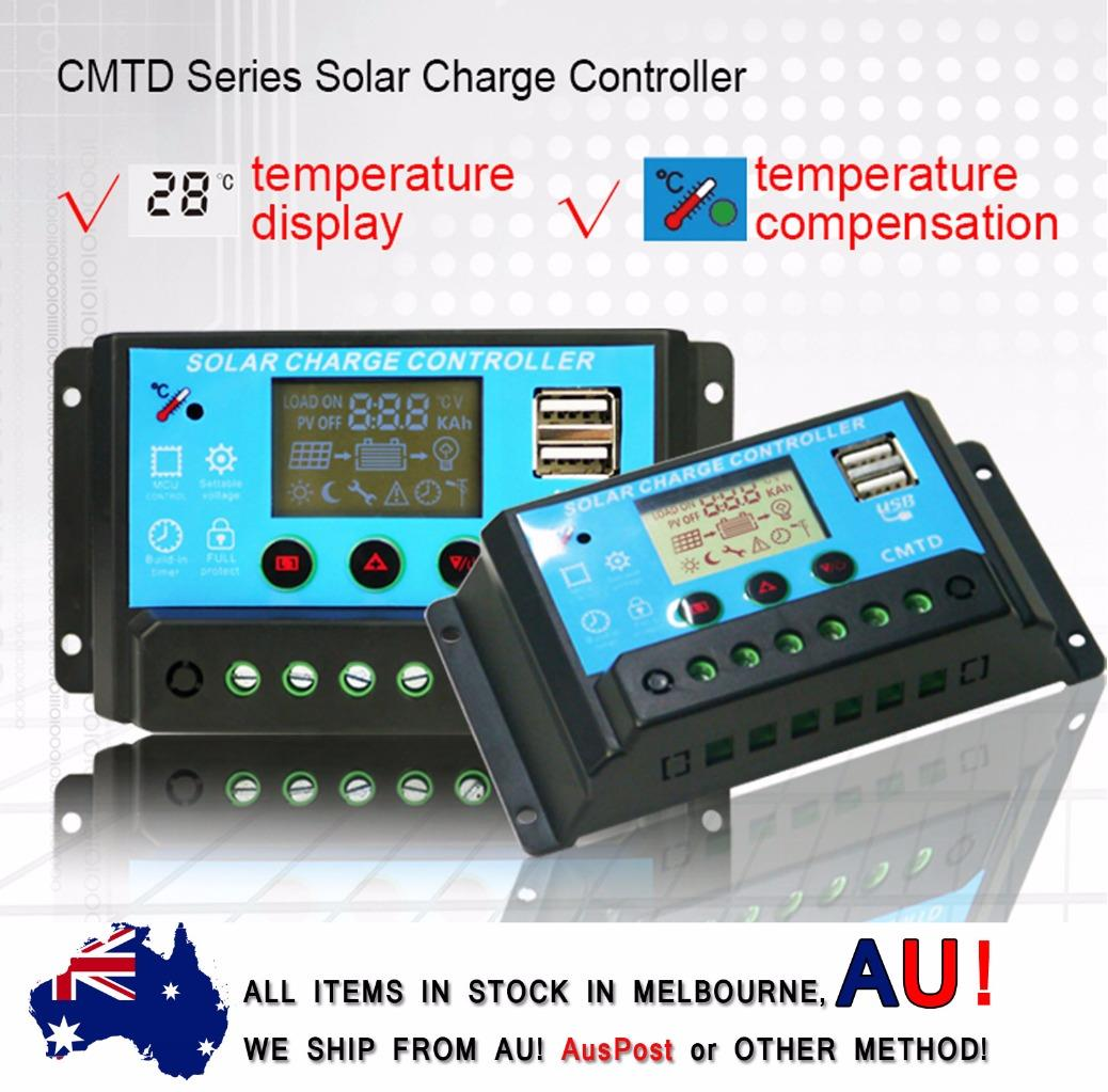 Cmtd 12v 24v 20a Lcd Display Pwm Solar Panel Battery
