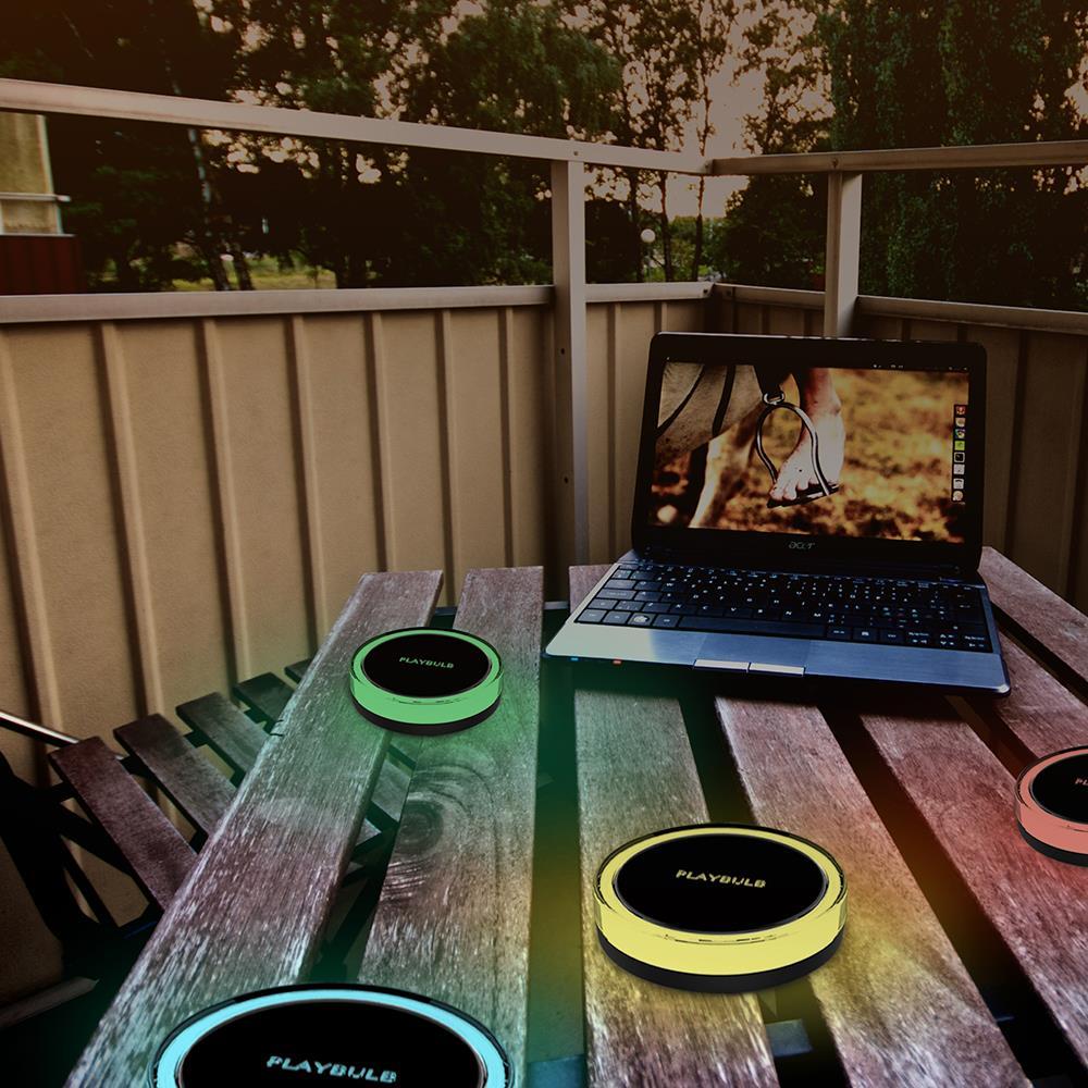 PLAYBULB Waterproof Color Smart Solar Light Yard Lawn