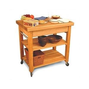 Butcher Block Rolling Kitchen Cart : Kitchen Island Butcher Block Top Rolling Kitchen Cart Portable Table Storage