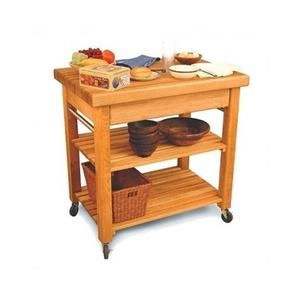 Kitchen Island Butcher Block Top Rolling Kitchen Cart Portable Table Storage
