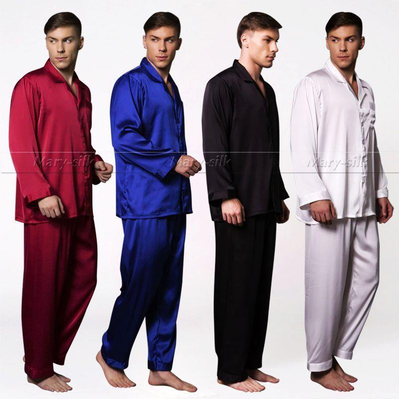 Mens Silk Satin Pajamas Set pajamas for men big and tall sleepwear   Great  Gift  42ea25bfe