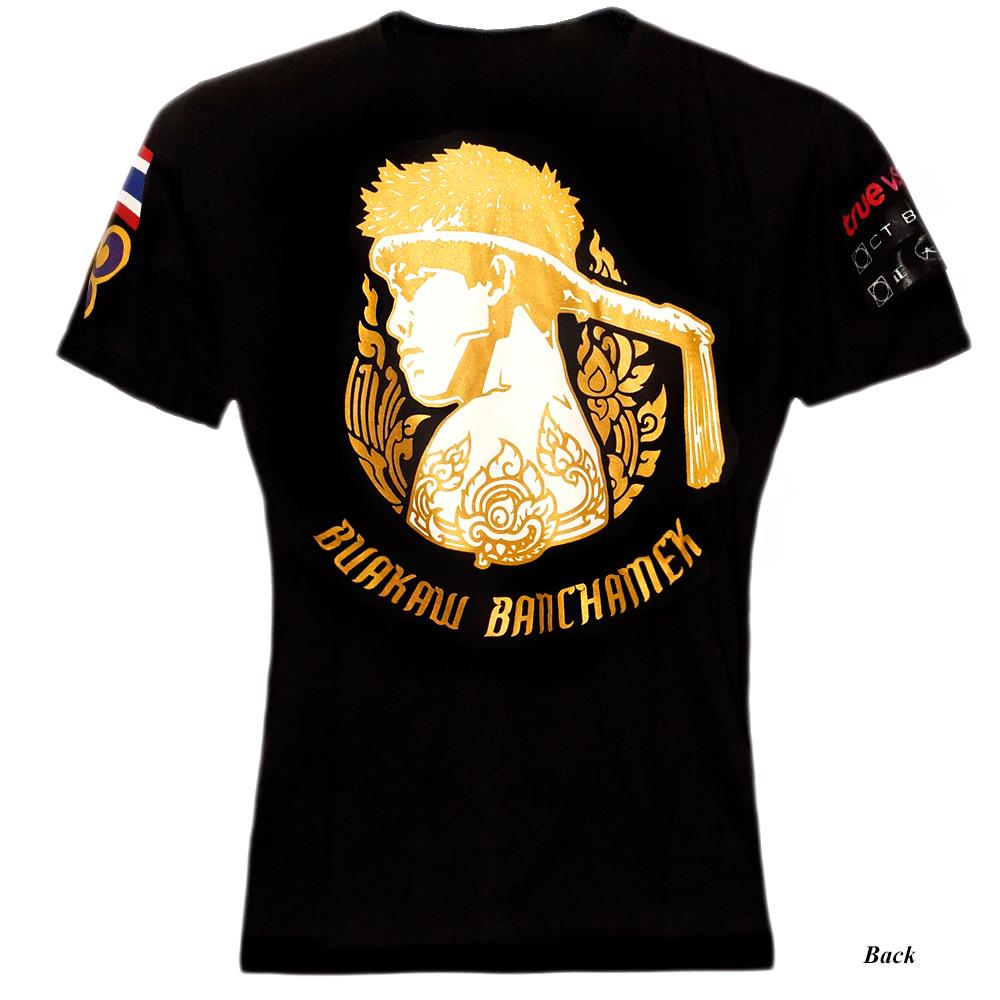 MUAY THAI T SHIRT BOXING TRAINING MEN UFC KICKBOXING TEE MENS BUAKAW SAENCHAI