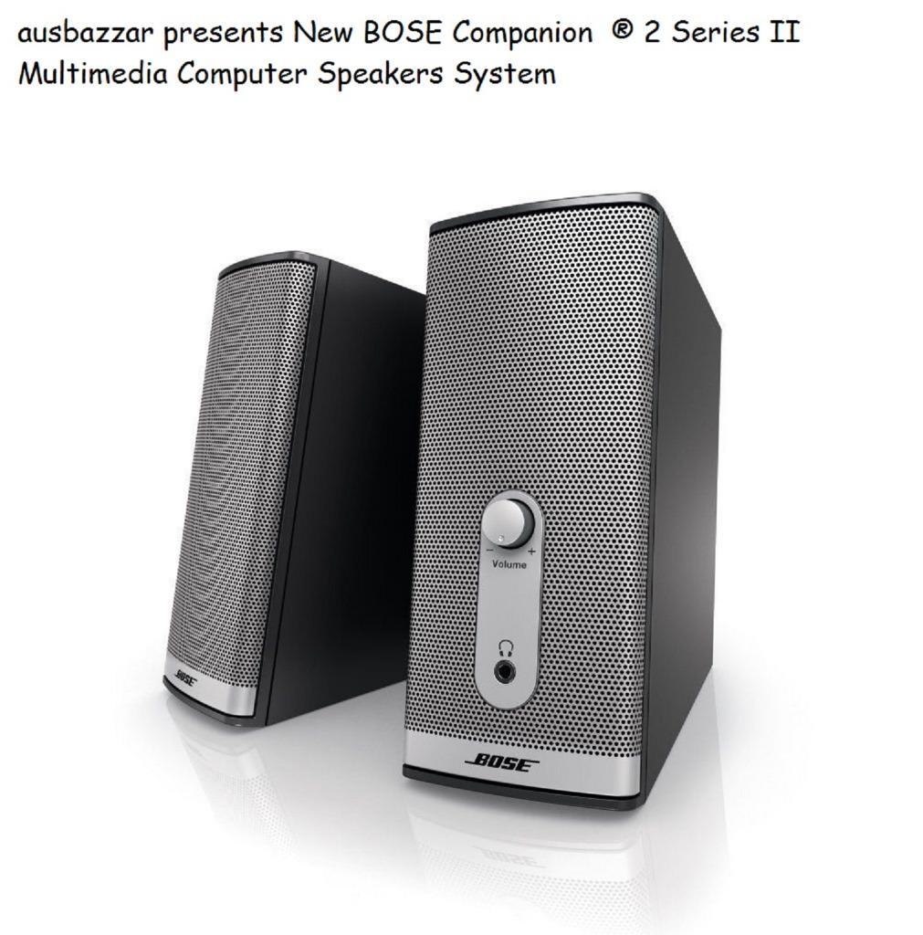 Companion Connecte: New BOSE Companion ® 2 Series II Multimedia Computer