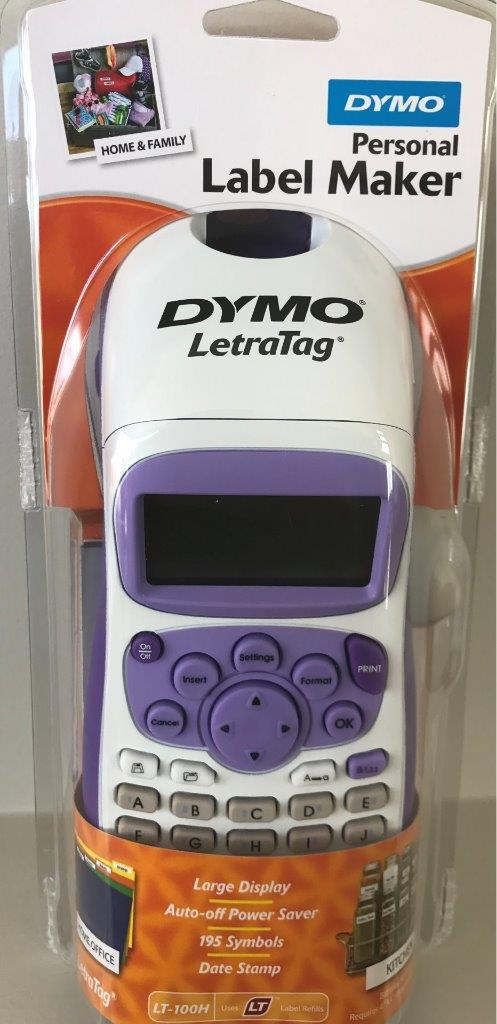 dymo personal label maker letratag lt 100h with lithium. Black Bedroom Furniture Sets. Home Design Ideas
