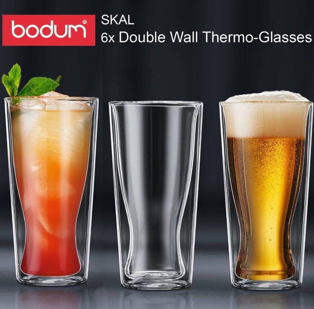 Bodum Pavina Double Wall Thermo Glasses Coffee Tea Cups