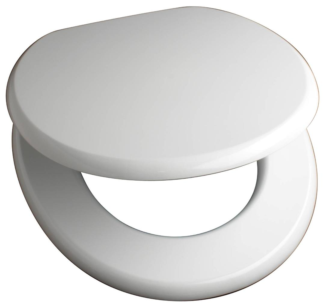 New 18 Quot Mdf Universal Bathroom Wc Toilet Seat Easy Fit