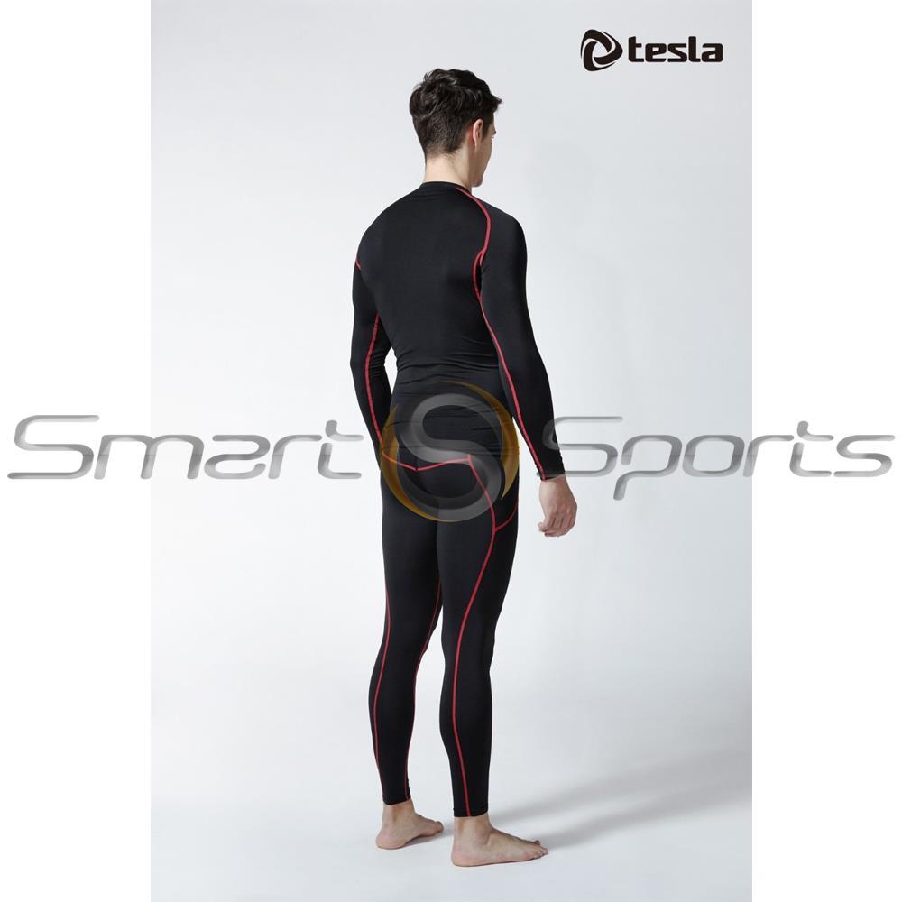New Mens Tesla Baselayer Black Red Pants Armour ...