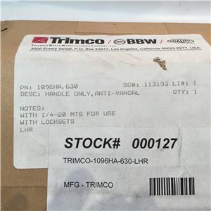 "1096HA-LHR TRIMCO LR ANTI-VANDAL HANDLE ONLY W//2-3//4/""BACKSET SINGLE DOOR 1-1//4/"""