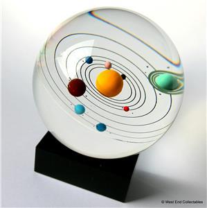 """Orrery Model Solar System Inside Giant 80mm (3.25"""") Glass ..."""