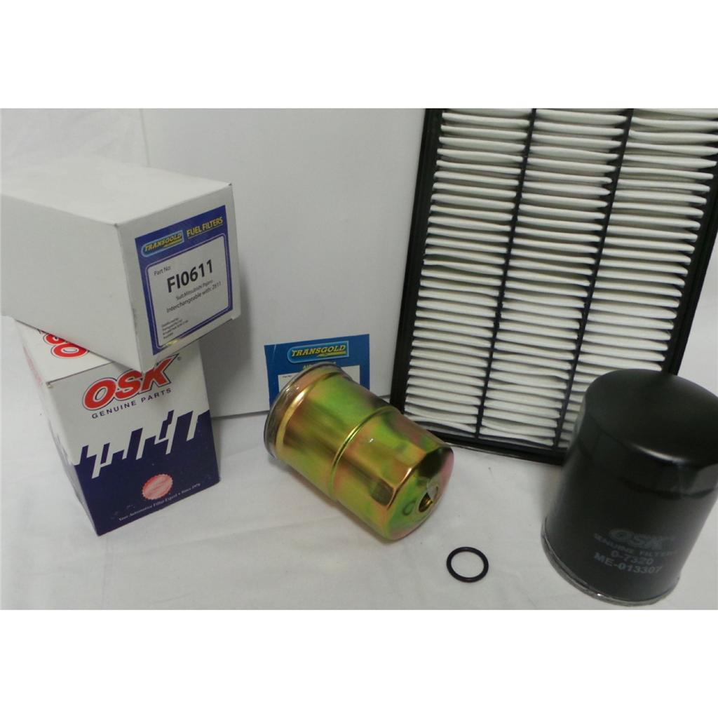 mitsubishi pajero nm, np turbo diesel 2 8l & 3 2l filter kit