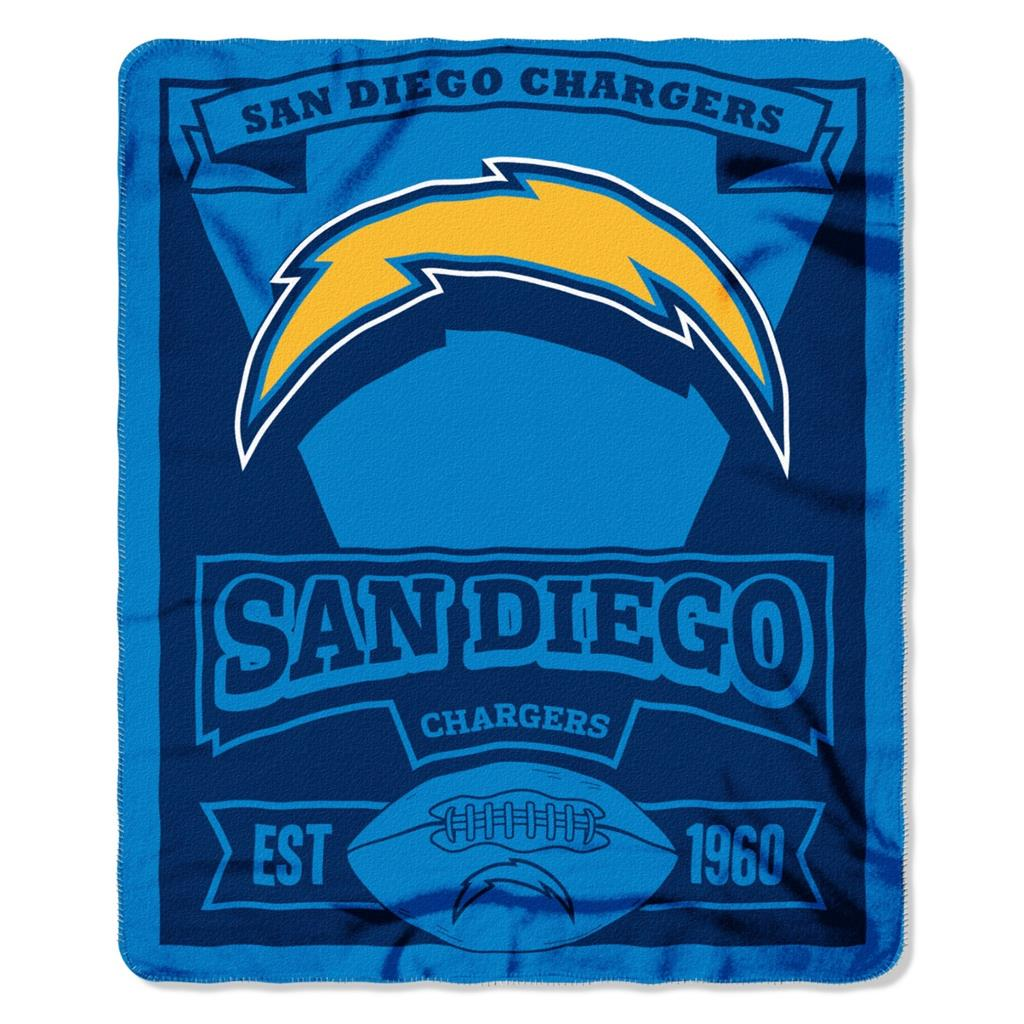 San Diego Chargers Fleece: New NFL Football Logo Large Soft Fleece Throw Blanket 50
