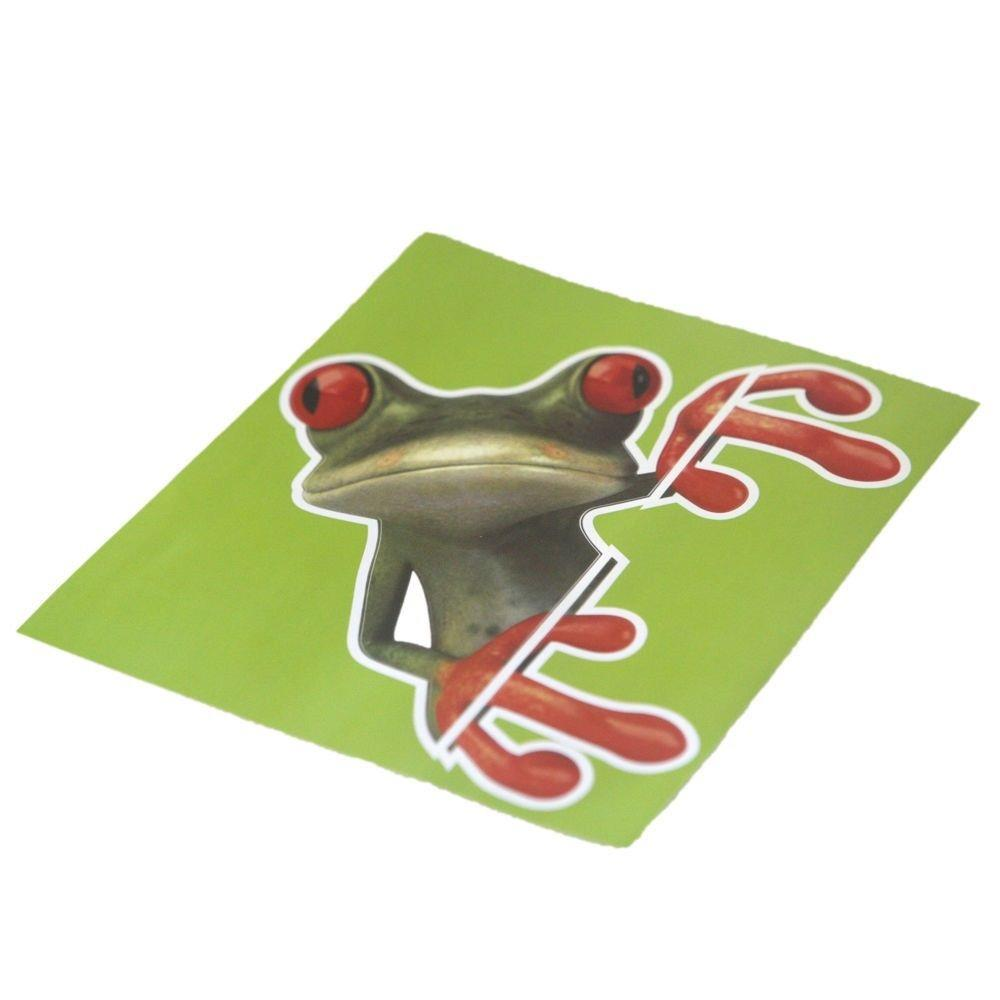 3pcs 3d Cute Peep Frog Funny Car Stickers Window Vinyl