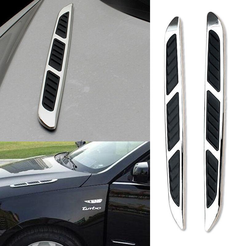 2 Pcs Shark Gill Decal Hood Side Hole Intake Vinyl Car