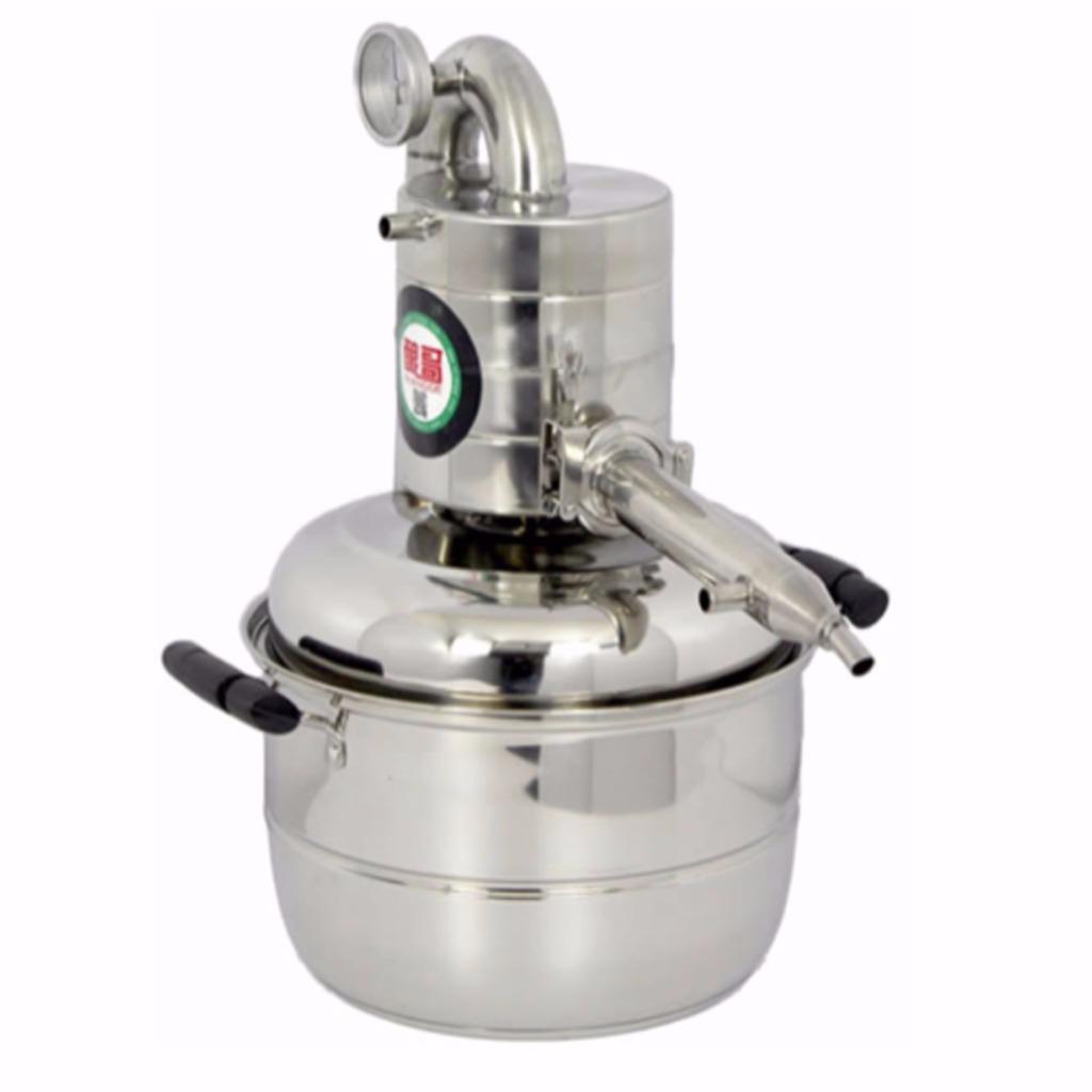 971749901_o 10L-15L  Alambique Destilador Termometro Inoxidable Enfriador Vino Agua Aceite