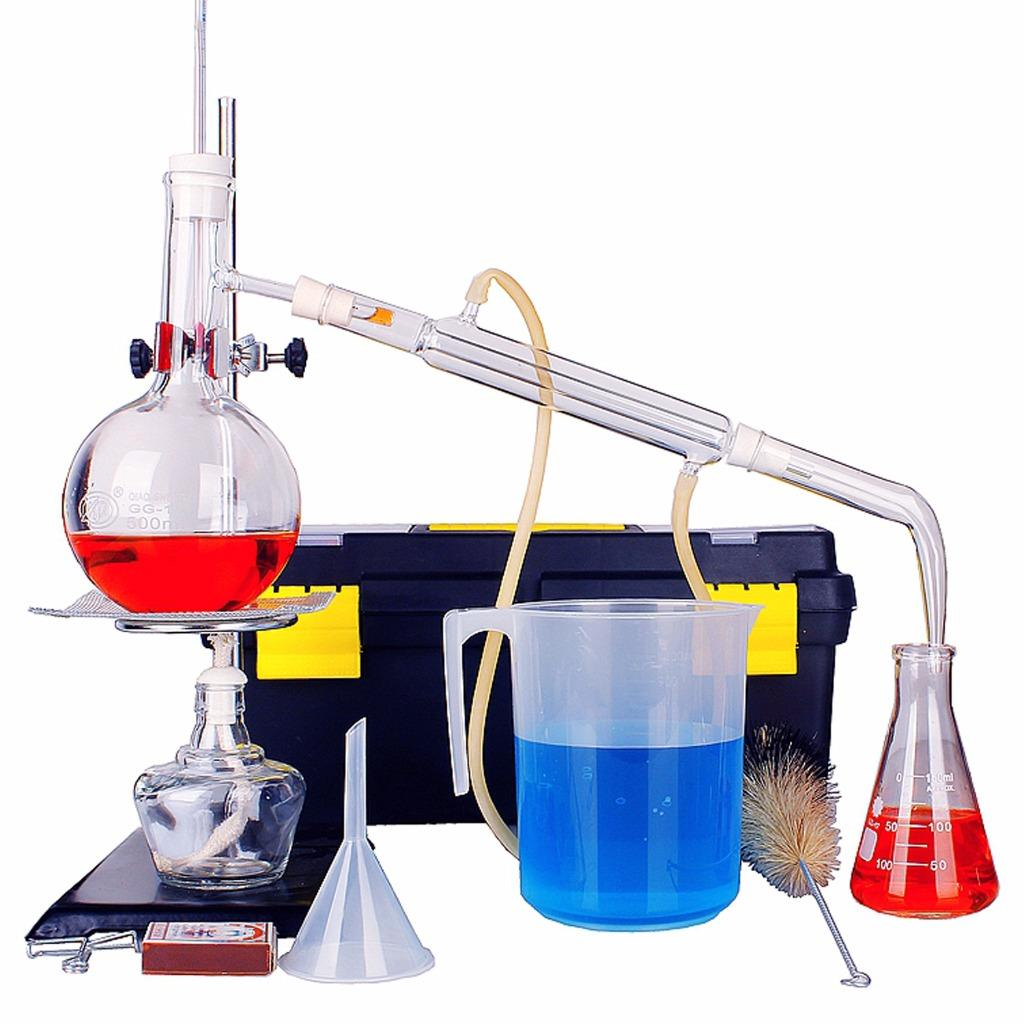 New Lab Essential Oil Pure Water Distillation Apparatus