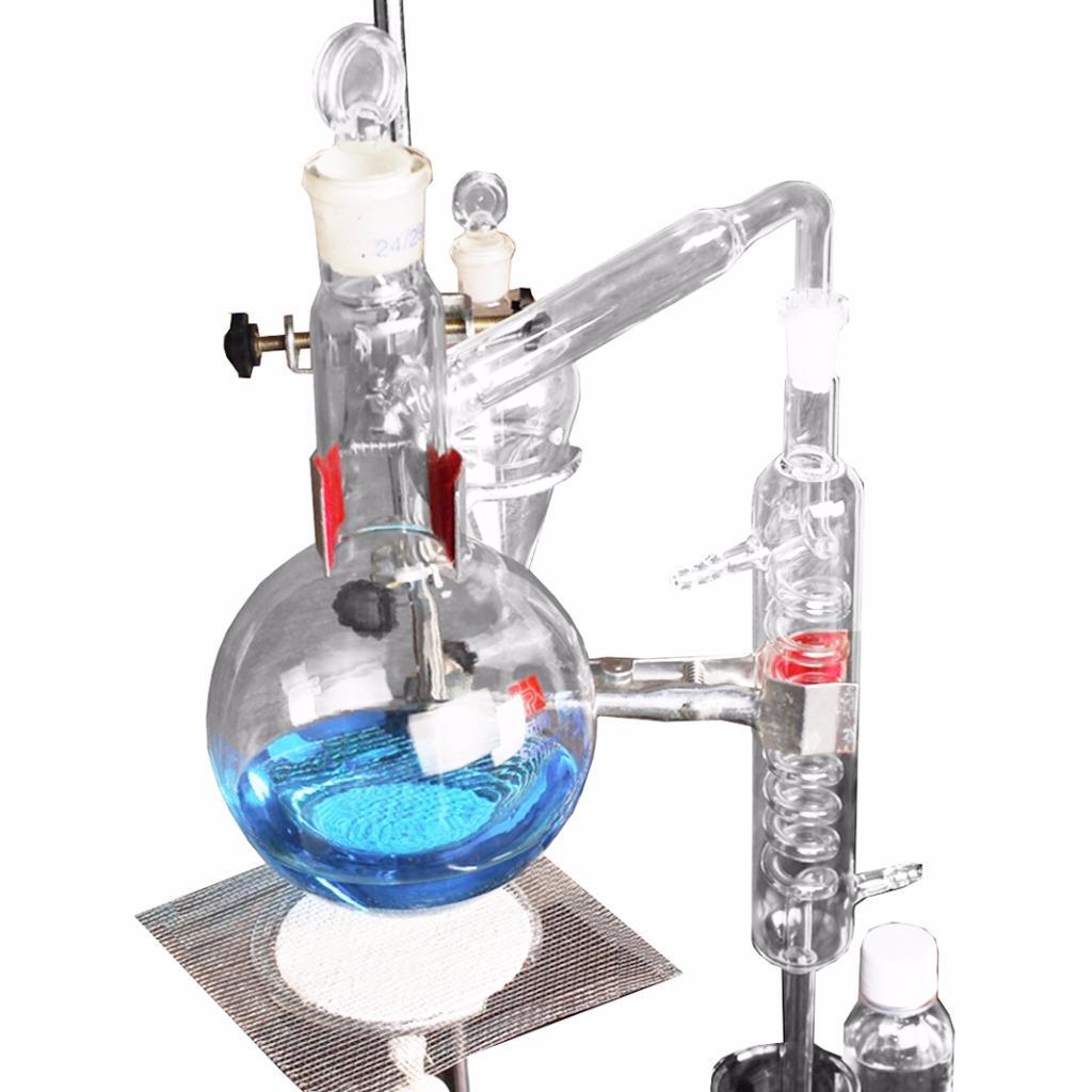 500ml neue labor therisches le destille rein wasser ger t glaswaren satz ebay. Black Bedroom Furniture Sets. Home Design Ideas