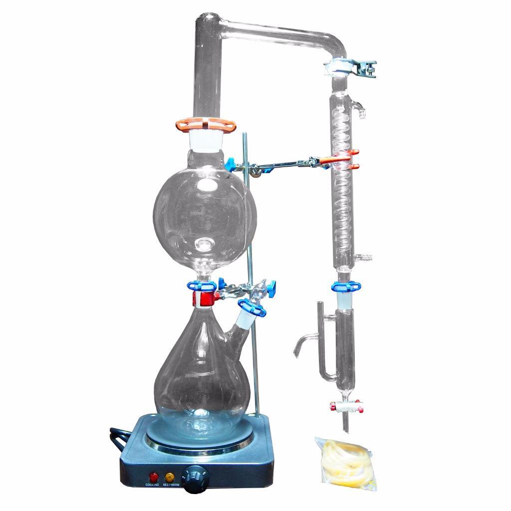 Water Distiller Parts ~ New lab essential oil steam water distillation apparatus w