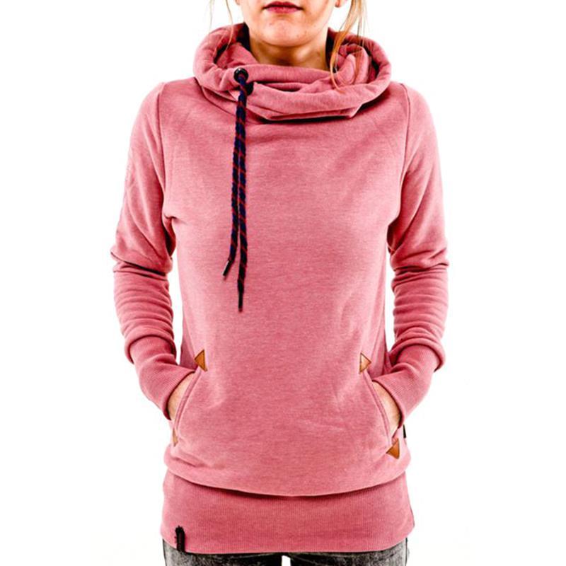 8122f60e Details about Women Pocket Hoody Hoodie Long Sleeve Hooded Sweatshirt  Pullover Coat Jumper Top