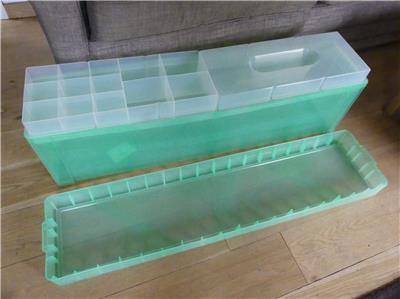 Large Plastic Christmas tree and decorations Storage Box ...