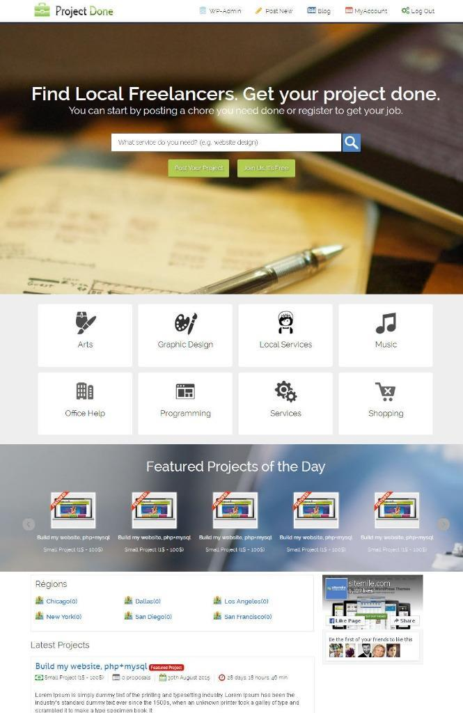 Responsive Freelancer Website for sale with  Free Installation + Free Hosting
