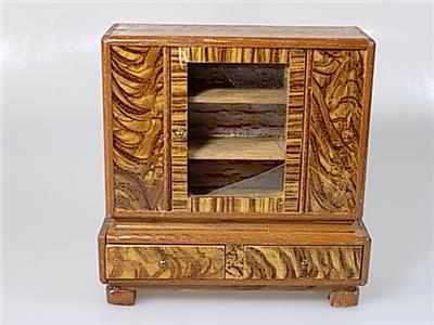 rare original art deco wohnzimmer m bel puppenstube konvolut holz 8 teile 20 jhd ebay. Black Bedroom Furniture Sets. Home Design Ideas