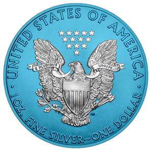 USA 2019 1$ American Eagle 1 oz Silver Space Blue Edition Coin 500 pcs PRESALE