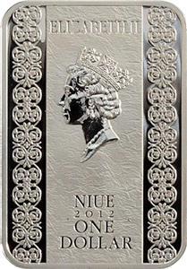 Niue 2012 1$ Saint Blessed Ksenia of Petersburg 28,28g Silver Coin