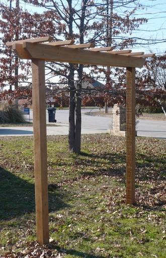 New Cedar Wood Garden Entry Arbor Pergola Swing Stand With