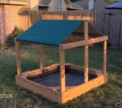 New 5 Foot Square Wooden Children S Sandbox With Cover