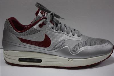 brand new c237d 0e92a Nike Air Max 1 HYP QS SZ11 Night Track Silver Red Hyperfuse 633087-006