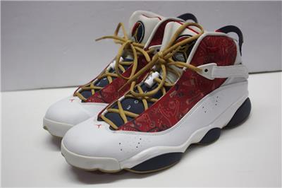 2dda0978664507 Nike Mens Jordan 6 Rings White Varsity Red-Midnight Nvy-Blck 322992-163 US  12