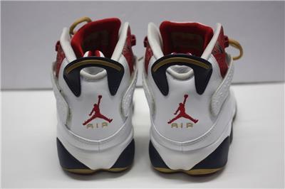 7f0eb9f6ab5d Nike Mens Jordan 6 Rings White Varsity Red-Midnight Nvy-Blck 322992-163 US  12
