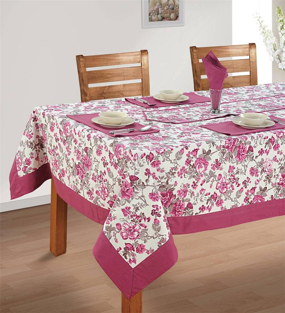 8 Seater Pure Cotton Table Linen Set 1 Table Cloth 8