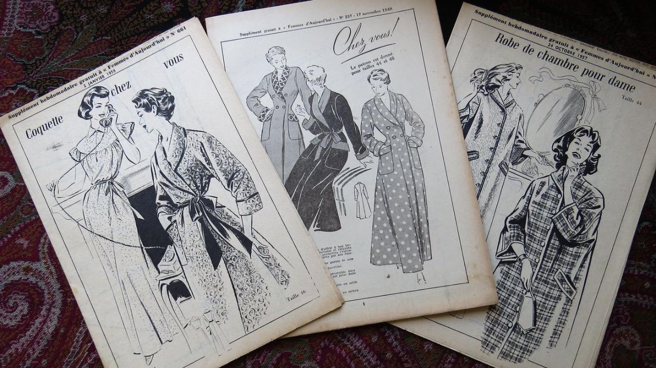 Sonstige 3 Rare Franz Original 50erj Schnittmuster Patron Damen Kleider 47