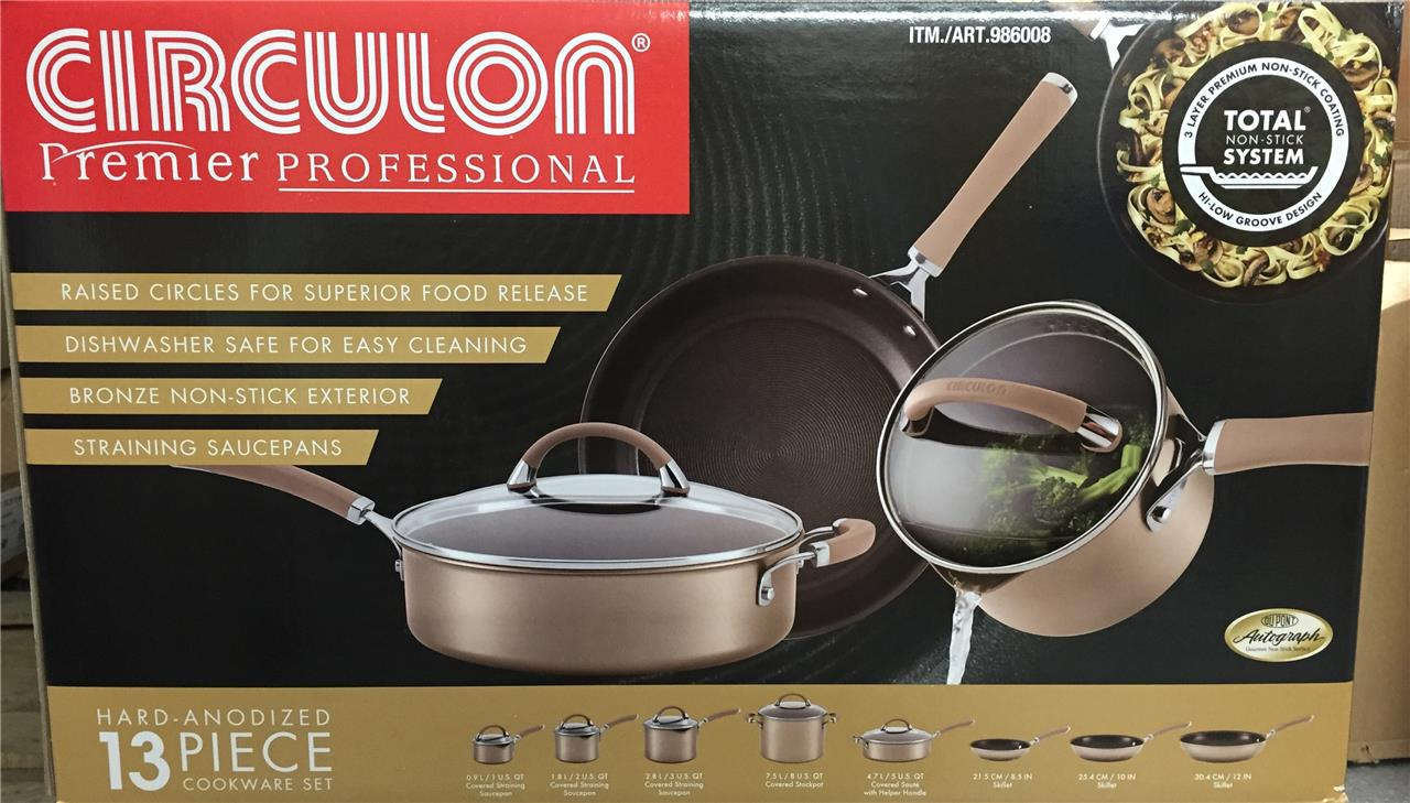 Circulon Premier Professional Hard Anodized 13 Piece Non