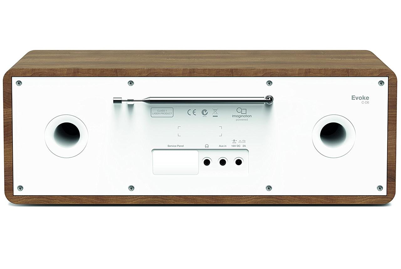 pure evoke c d6 stereo digital dab fm radio with cd and. Black Bedroom Furniture Sets. Home Design Ideas