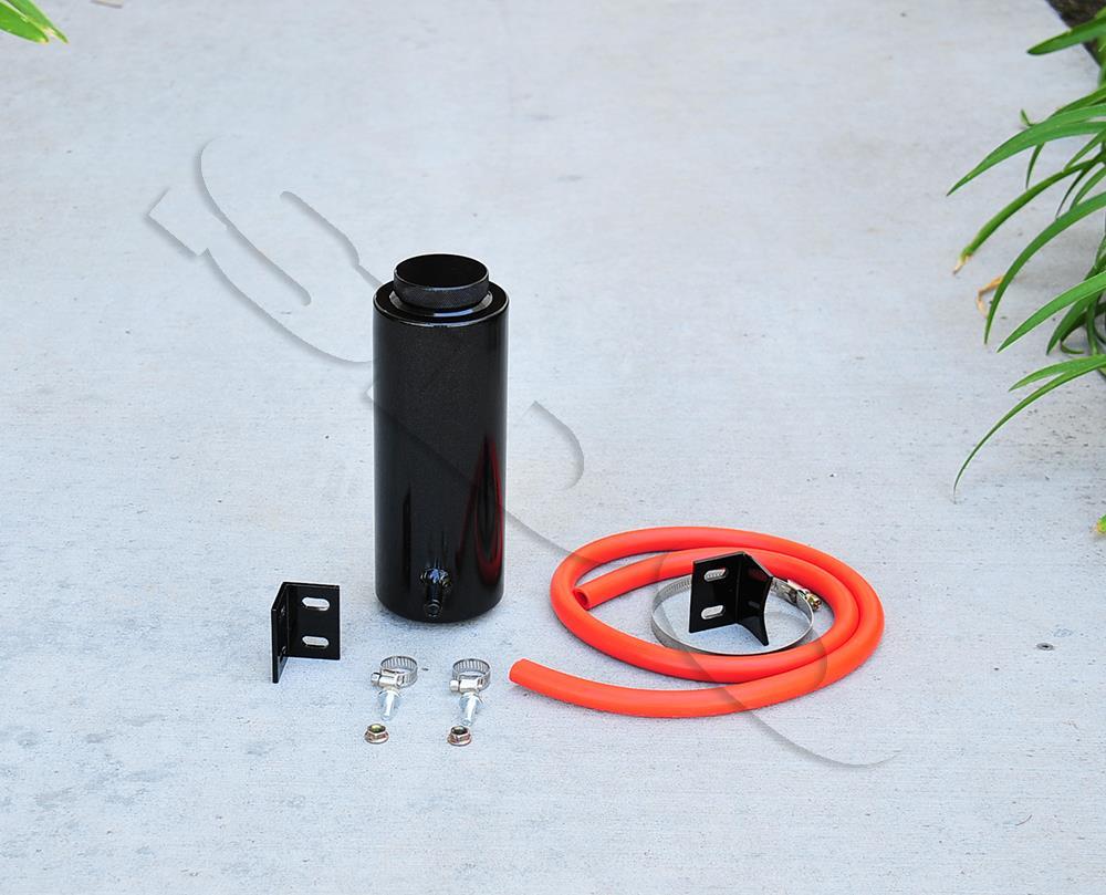 400ML Aluminum Radiator Overflow Reservoir Coolant Tank Fit Universal Black