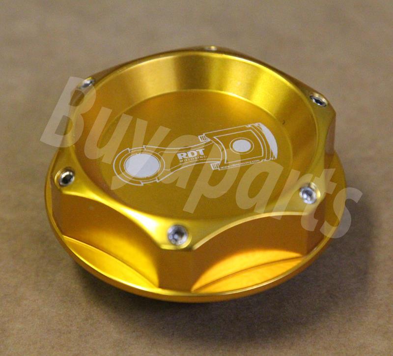 Gold Fuel Filler Tank Cap Engine Billet Oil Cover fit Universal for Acura Honda