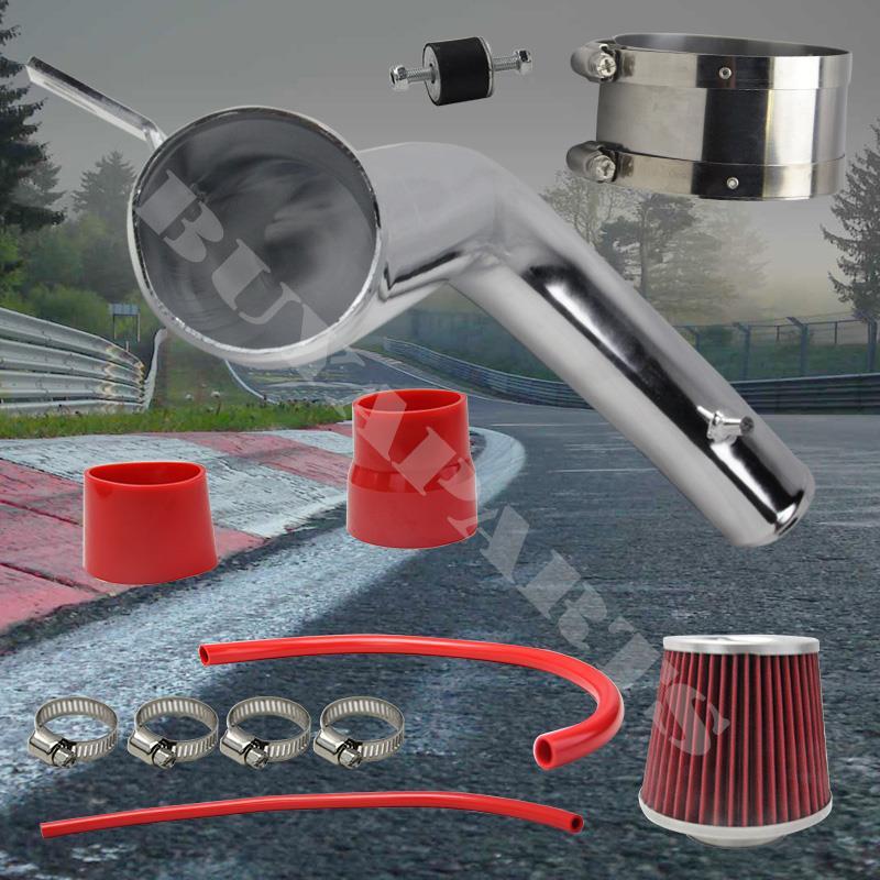 FILTER 2003-2007 HONDA ACCORD V6 CHROME COLD AIR INTAKE SYSTEM PIPING