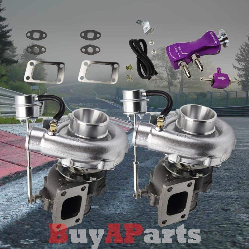 Upgrade Racing V-Band Turbo Charger Purple Dual Stage 30PSI Boost Controller