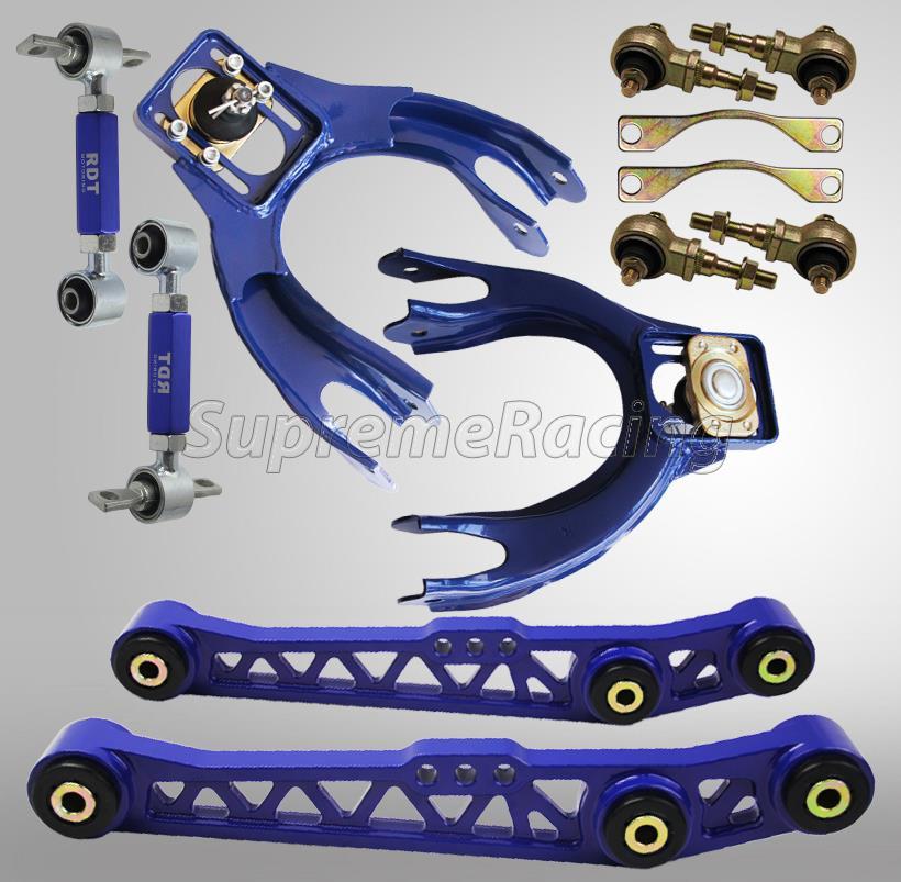 Blue Suspension Front Upper Rear Camber Toe Arm Bushing Kit 1992-1995 Civic EG