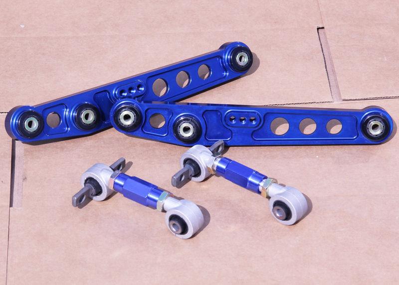 GEN 2 Gold CNC Billet Aluminum Rear Lower Control Arm Kit For 1988-1991 CRX