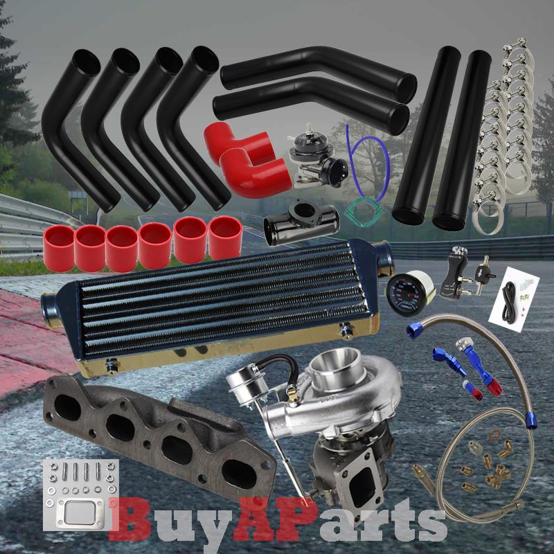 diy black intercooler piping red couplers turbo kit for 90. Black Bedroom Furniture Sets. Home Design Ideas